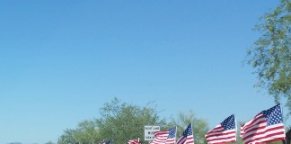 american flags, riders usa, memorial day