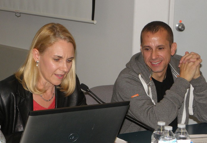 Gina Kaegi and Ray Villafane