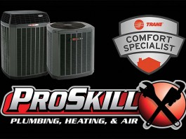 proskill plumbing, heating and air logo