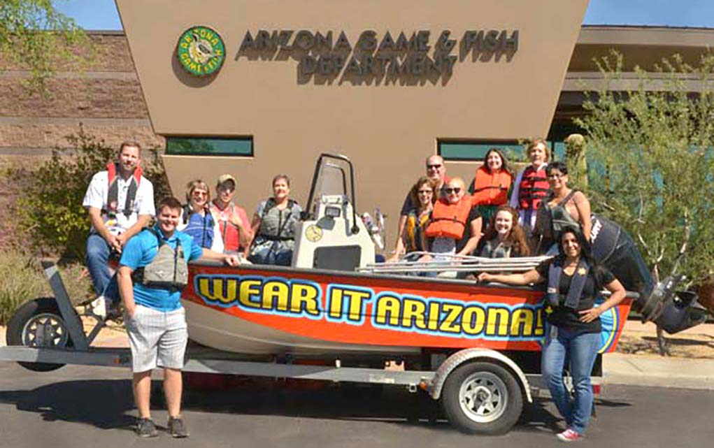 Wear your life jacket to work day sonoran news for Az game and fish dept