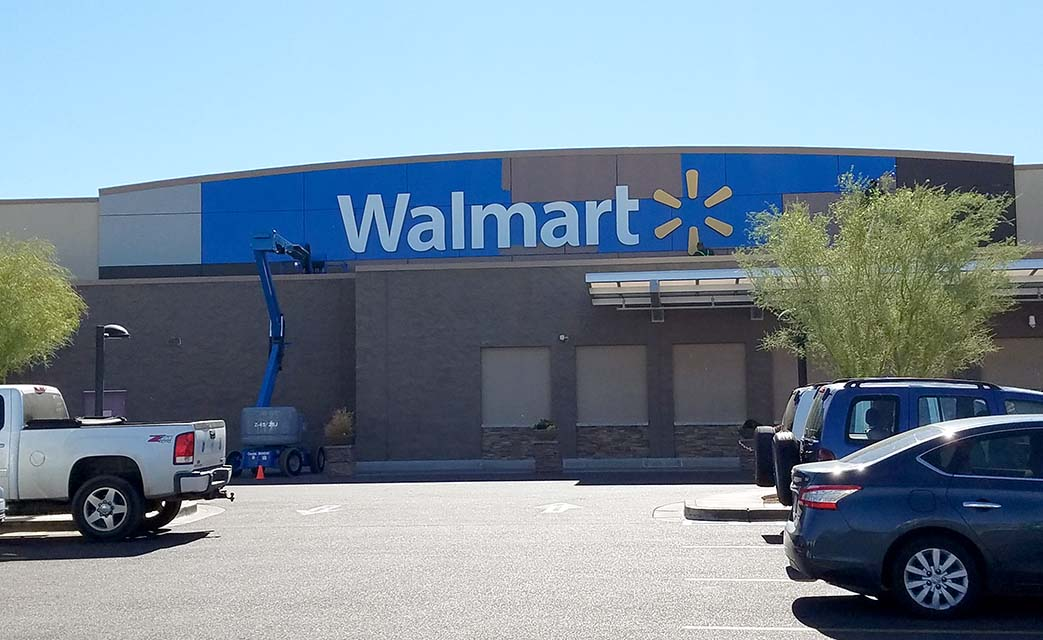 cave creek, walmart, sign, painted