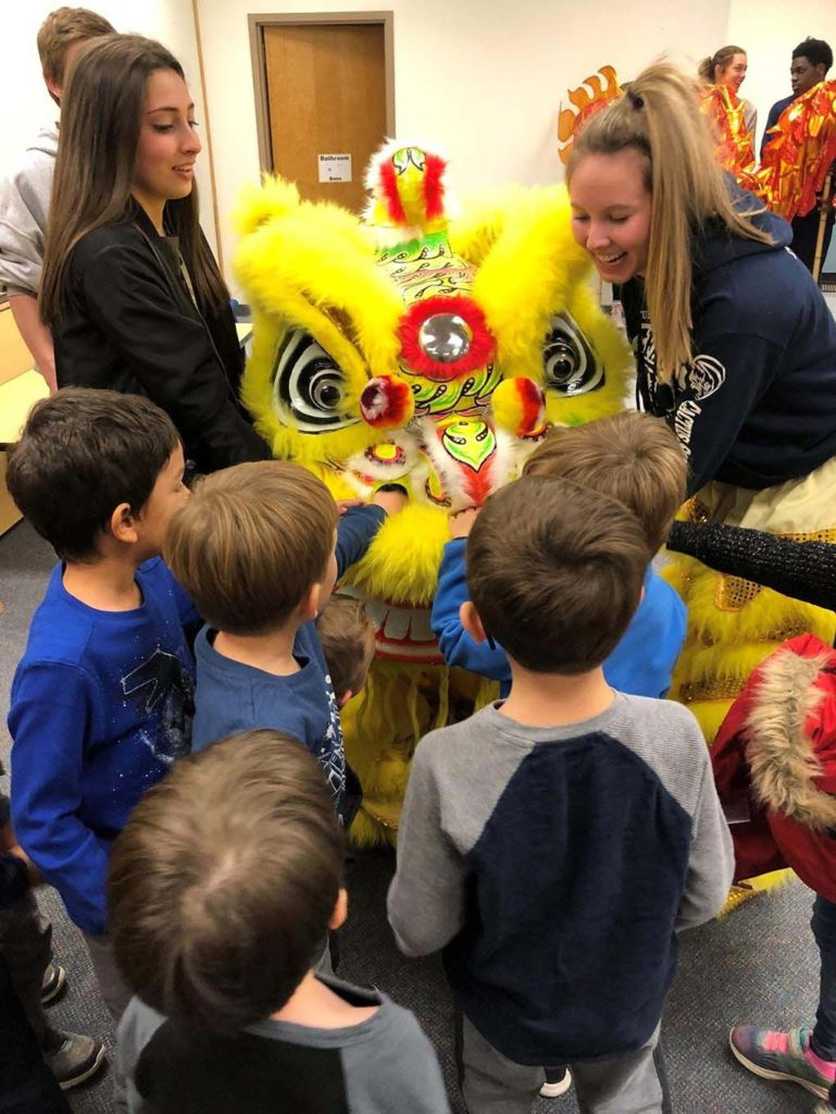 Chinese outreach activities at the local preschool by the Chinese National Honor Society